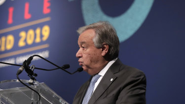 "UN Secretary-General Antonio Guterres said he was ""disappointed"" with the outcome of the Madrid climate talks."