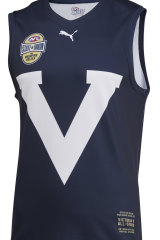 The jumper to be worn by the Vics next Friday night.