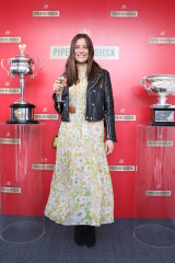 Game, set, pop: Lily Sullivan soaks up the hospitality in the Piper Heidsieck marquee.