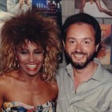 Concert promoter Paul Dainty with Tina Turner.