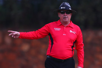 Ian Gould, pictured officiating during the under-19 ICC World Cup in January, hits out at the Australians in his autobiography.