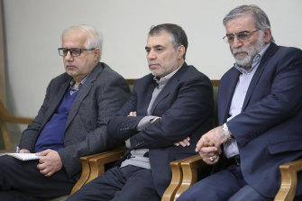 Iranian nuclear scientist Mohsen Fakhrizadeh, right, and his team were targeted by the Mossad.