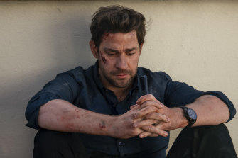 Not your typical hero: John Krasinski as Tom Clancy's Jack Ryan, in season 2.