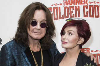 Ozzy Osbourne and his wife Sharon, pictured in 2018.