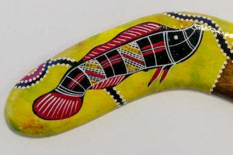 """Another of Birubi's """"Aboriginal"""" souvenirs."""