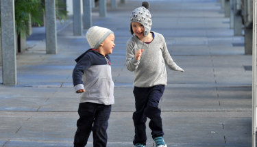 Jumpers and beanies have started making an appearance around Brisbane as winter comes a week early.