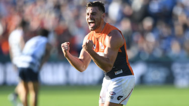 Box seat: Stephen Coniglio is likely to skipper the Giants should Phil Davis be ruled out of Saturday's AFL derby.