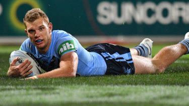 Shining light: Tom Trbojevic was a standout for New South Wales.