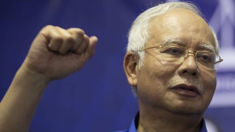 Najib Razak campaigning earlier this month.