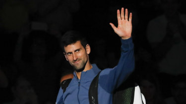 Top gun: Novak Djokovic, appearing at this week's Paris Masters, will move back atop the world rankings.