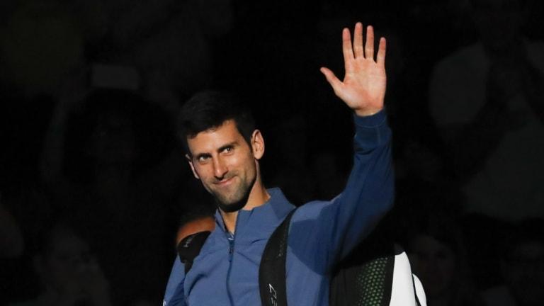 Top gun: Novak Djokovic, appearing at this week's Paris Masters, will move back atop the world rankings.