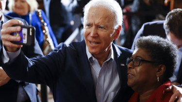 Democratic presidential candidate Joe Biden during a campaign event in Charleston.