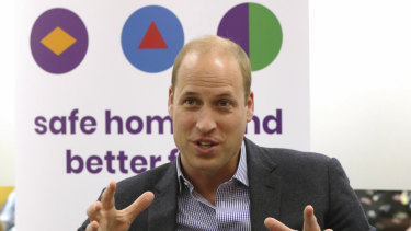 Prince William, the Duke of Cambridge, during a visit to the Albert Kennedy Trust in London to learn about the issue of LGBTQ youth homelessness.