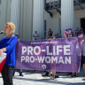 Rallies for and against abortion fire up around the US