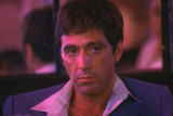 Al Pacino in a scene from the film Scarface.