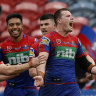 Knights end NRL horror show with Titans rout