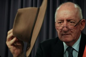Former Ambassador to the Holy See, Tim Fischer, addresses the National Press Club in Canberra, 2012.