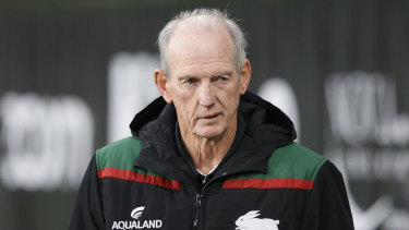 Wayne Bennett won six premierships with Brisbane and is often linked with a return to the embattled club.