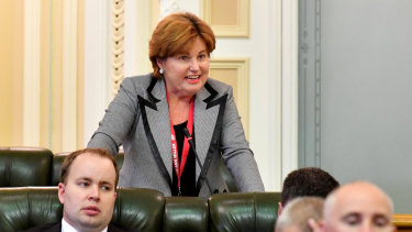 Member for Bundamba and former police minister Jo-Ann Miller in state parliament.