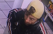 A supplied image obtained on Tuesday of a man described as Caucasian, 24, approximately 178cm tall with a thin build and shoulder-length dark hair who, with a female accomplice, have gone a crime spree across the Whitsundays.