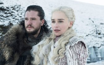 Jon Snow and Daenerys Targaryen, two characters in Game of Thrones.