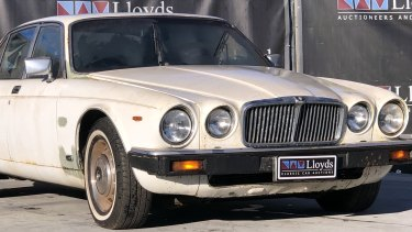 Sir Joh's car, a 1982 Jaguar, is for sale.