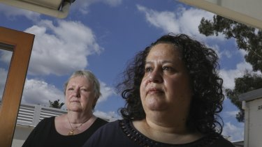 Cheryl Kraft Reid (right) and her wife Faye Reid fear they have lost the money they invested with Melissa Caddick.