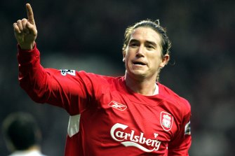 Harry Kewell in 2006 during his Premier League days at Liverpool.