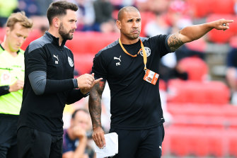 Melbourne City coach Patrick Kisnorbo, right, doesn't see a problem with his side's disciplinary record.