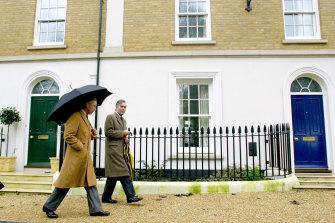 Prince Charles during one of his regular visits to Poundbury.