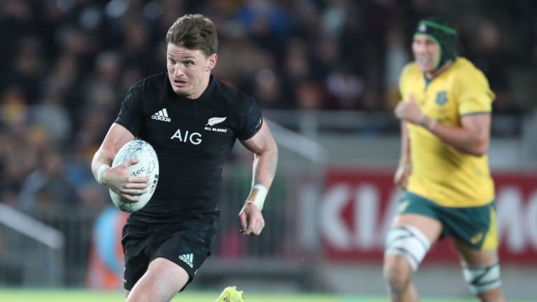 Absent: Beauden Barrett is sitting out the clash with Argentina.