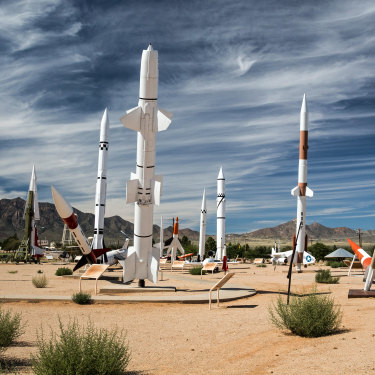 The site of the first atomic tests on US soil, White Sands Missile Range Museum.