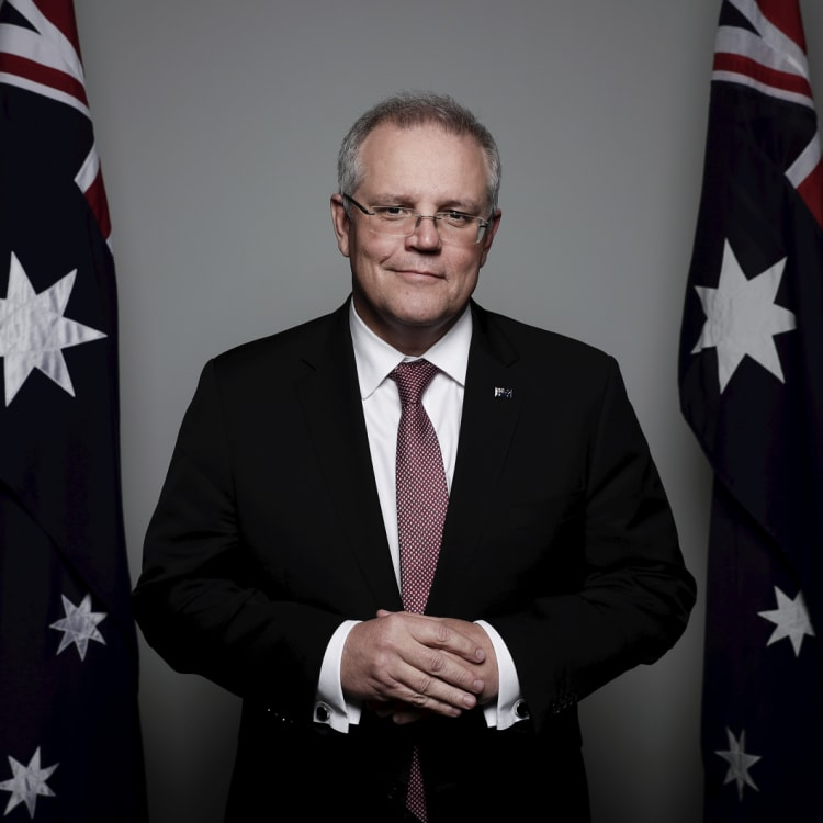 Prime Minister Scott Morrison poses for a portrait at Parliament House the day after winning the Liberal leadership.