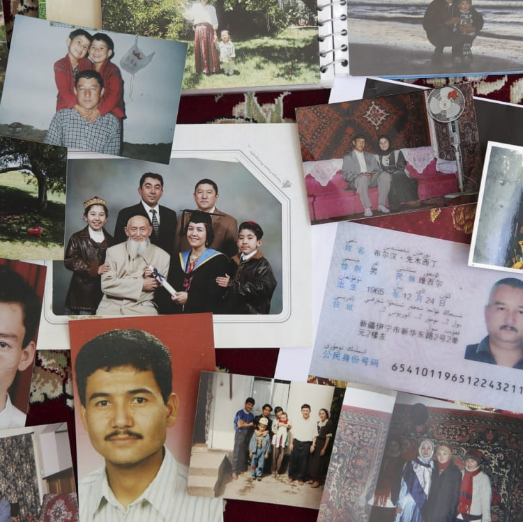 Photos from Sayfudin Shamseden's photo album of relatives and friends who entered the internment camps.
