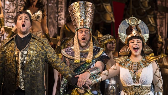 Aida review: Daring production lights up the stage