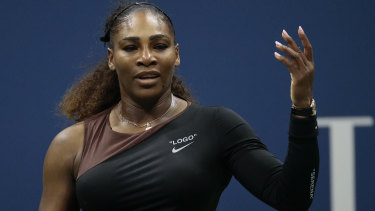 Serena Williams in her controversial US Open final.
