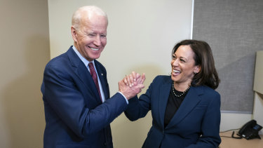 Running mates: Joe Biden and Kamala Harris.