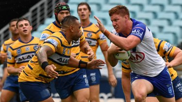 Dylan Napa was a rare shining light for the Bulldogs against the Eels.