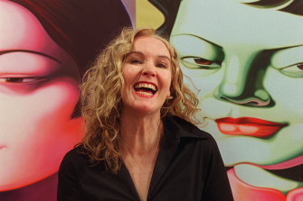 Annette Bezor at an exhibition of her work in 2003.