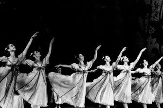 Artists of The Australian Ballet in Onegin. September 1, 1981.