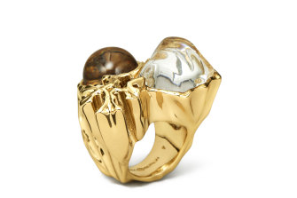 "Tory Burch ""Roxanne Statement Ring""."