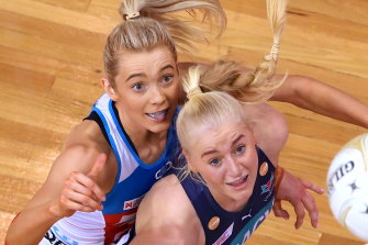 Melbourne Vixen Jo Weston (right) argued that players were not consulted over the move.