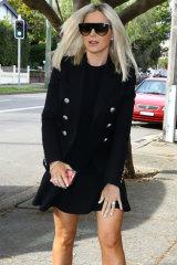 Roxy Jacenko arriving at Waverley court on Thursday.