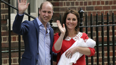 """The name of the Duke and Duchess of Cambridge's third child will be named in """"due course""""."""
