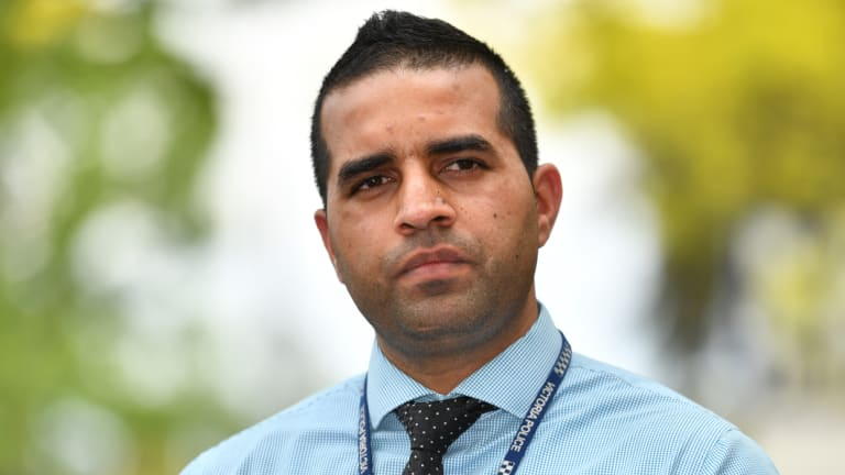 Detective senior constable Lal Devinder Singh spoke about armed robberies in Melbourne's south this week.