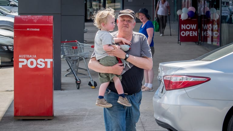Dave Roberts and his son Alex wants a pedestrian crossing for his local shopping centre.