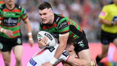 Get it over with: Angus Crichton will face his former club Souths in his first Roosters game in the NRL.