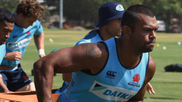 Back on the field: It hasn't been a great three months for Kurtley Beale.