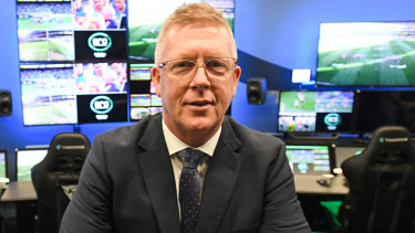 AFL football operations boss Steve Hocking poses for a photo during a press conference at the new AFL Review Centre (ARC) in Melbourne, Tuesday, September 3, 2019. (AAP Image/Erik Anderson) NO ARCHIVING
