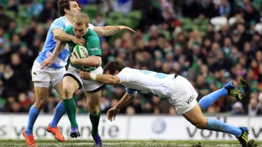 All eyes on me: Keith Earls.